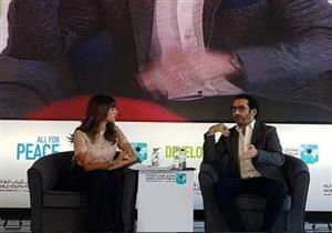 أحمد حلمي بمنتدى شباب العالم: هناك أفلام تكشف عيوب المجتمع بنية فاسدة