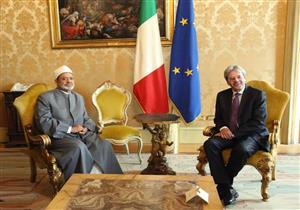 شيخ الأزهر يبحث مع رئيس الوزراء الإيطالي سبل مواجهة الإرهاب والتطرف