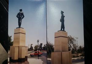 مصمم تمثال عبدالمنعم رياض يفند تبريرات محافظ بورسعيد لتحطمه بالصور والأرقام
