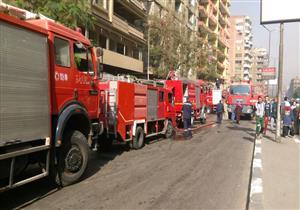 """أمن القاهرة"""": بدء عمليات التبريد في حريق باب الشعرية"""