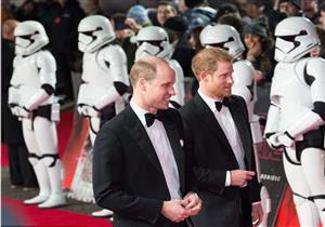 بالصور.. الأميران ويليام وهاري بالعرض الخاص لفيلم The last jedi