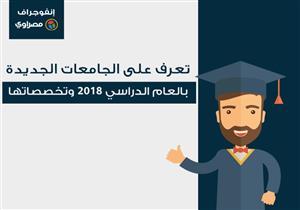تعرف على الجامعات المصرية الجديدة في 2018 وتخصصاتها (إنفوجرافيك)