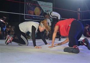 أول عرض لمصارعة نسائية فى مصر بالسويس