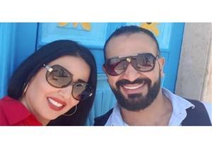 """""""وصلة غزل"""" متبادَلة بين أحمد سعد وسمية الخشاب: ربنا يحميك يا حبيبي"""