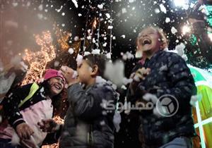 """بالصور- احتفالات سكان التجمع بـ""""الكريسماس"""""""