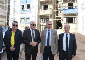 محافظ جنوب سيناء يتفقد مشروع إسكان الرويسات - صور