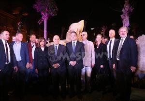 """كواليس احتفالية """"تمثال المطرية"""".. مفاجأة بشأن التمثال الضخم المكتشف حديثًا"""