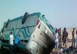 مصرع شخصين وإصابة 29 آخرين إثر انقلاب أتوبيس جنوب سيناء
