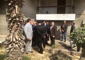 ننشر صور معاينة مدير أمن القاهرة لموقع الانفجار بالمعادي