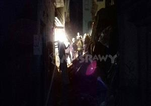 انهيار عقارات ببولاق أبوالعلا: إخلاء 8 منازل مجاورة وجهود مكثفة لإنقاذ شخص