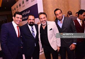 بالصور... توافد صنّاع السينما على مؤتمر الإعلان عن عودة خالد يوسف للإخراج