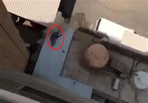 بالفيديو- سقطت من الدور السابع لتفاجئ رجال الحماية المدنية بالوقوف