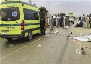 إصابة 11 في حادثي سير منفصلين ببني سويف