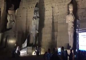 وزير الآثار يسدل الستار عن تمثال رمسيس الثاني بمعبد الأقصر