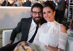 بالصور.. حنان مطاوع بالأبيض في مهرجان الزفاف برفقة زوجها