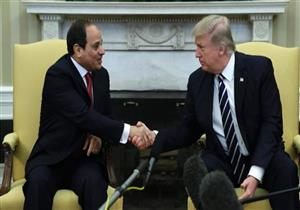 """السيسي للرئيس الأمريكي ترامب: """"أنا بثق فيك وفي قدرتك على مواجهة الإرهاب"""""""