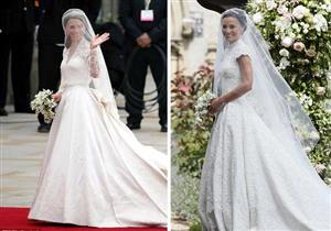 """بالصور- منها الفستان والقبلة.. 5 اختلافات بين الأختين """"ميدلتون"""" يوم الزفاف"""