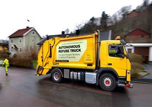 بالفيديو.. فولفو تختبر شاحنة ذاتية القيادة لجمع النفايات