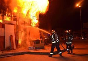 نشوب حريق بكمية مخلفات بجوار مستشفى إمبابة العام