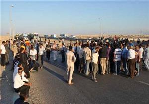 بسبب هدم منازلهم.. 200 شخص يقطعون الطريق الدائري بأثر النبي والأمن يصرفهم
