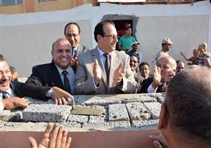 """بالصور.. محافظ الدقهلية يضع حجر الأساس لأول مدرسة باسم """"السيسي"""""""