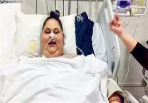 """المصرية إيمان """"أسمن امرأة في العالم"""" تتوجه اليوم إلى أبو ظبي"""