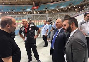 وصول بعثة منتخب مصر لملعب رادس قبل مباراة تونس