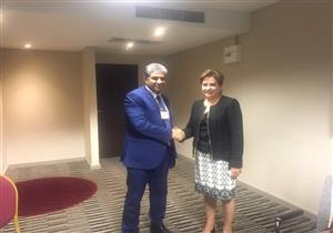 وزير البيئة يلتقي السكرتيرة التنفيذية لاتفاقية الأمم المتحدة للمناخ