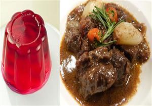 سفرة اليوم.. كمونية اللحم على طريقة الشيف شربيني.. والحلو جيلي بطيخ