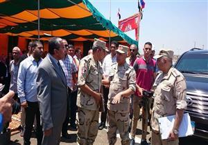 وصول رئيس الهيئة الهندسية للقوات المسلحة للقاء أهالي الوراق