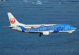 صور- شركة الطيران اليابانية تحول إحدى طائراتها لسمكة قرش