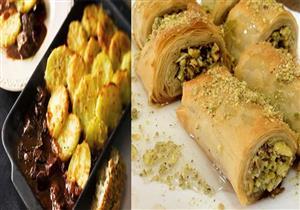 سفرة اليوم.. طريقة عمل صينية بطاطس باللحم البتلو والحلو كنافة بالكريمة