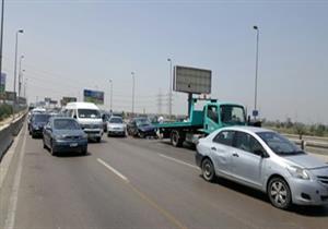 إصابة 3 أشخاص في حادث تصادم أعلى محور 26 يوليو