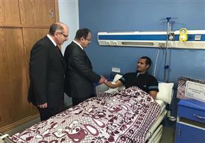 بالصور.. وزير الداخلية: رجال الشرطة المصابين قدموا مثالاً للتفاني في خدمة الوطن
