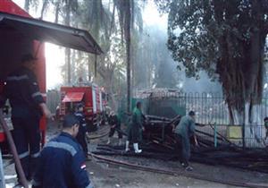 مصدر: حريق كمية من الأشجار داخل حديقة الحيوان بالجيزة