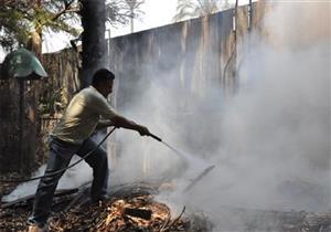 السيطرة على حريق بحديقة الحيوان بالجيزة.. وبدء مرحلة التبريد