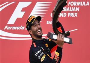 اصطدام فيتيل بهاميلتون يمنح ريتشاردو لقب فورمولا-1 في أذربيجان