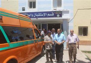 بالصور.. رئيس مدينة دسوق يزور مصابى انفجار أسطوانة غاز بكفر الشيخ