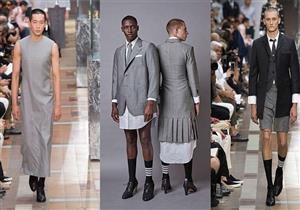"""بالصور.. مصمم أزياء يطلق مجموعة رجالية.. الكعب العالي و""""الجيبة"""" عنوانها"""