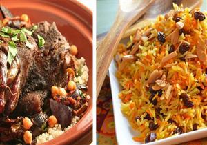 سفرة اليوم- لحم الكتف الضاني مع الأرز بالكبد والقوانص