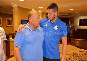 هاني أبو ريده يزور معسكر منتخب مصر