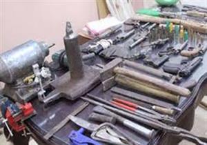 ضبط ورشة لتصنيع الأسلحة النارية بشبرا الخيمة