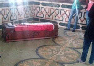 تشييع جثمان عمرو سمير من مسجد الشرطة