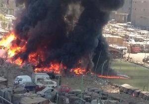 حريق هائل في جراج سيارات بإمبابة