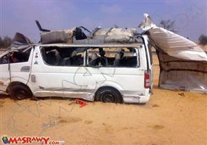 إصابة 9 أشخاص بينهم 4 أطفال في انقلاب سيارة ببني سويف