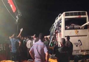 إصابة 17 شخصا في حادث انقلاب أتوبيس سياحي بجنوب سيناء