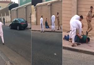 لحظة القبض على مصري قتل زوجته اللبنانية طعنًا بالسكين في الكويت