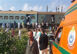 """""""إسعاف الإسكندرية"""": 110 مصابين في حادث القطارين.. وشاهد: 20 دقيقة سبب الكارثة"""