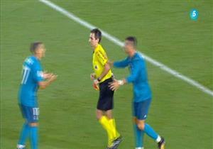 طرد كريستيانو رونالدو في الكلاسيكو ضد برشلونة