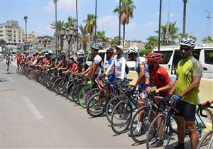 بالصور.. انطلاق سباق الدراجات الهوائية في الإسماعيلية بمشاركة 100 شاب